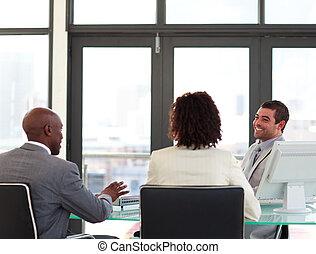 reunión, empresa / negocio, equipo