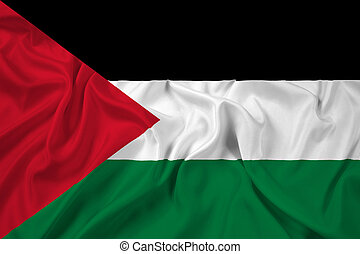 Waving Palestine Flag