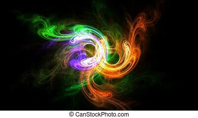 Dance of Colors - Beautiful 3D animated fractal: rendered...