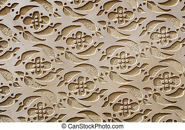 Moorish Patterned Wall Decoration Segovia Spain