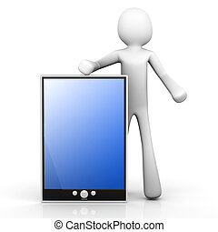 Holding a Tablet PC