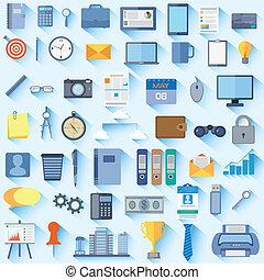 Office Icon - vector illustration of collection of office...