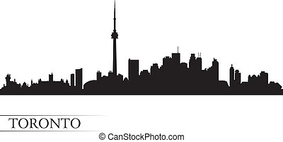 Toronto city skyline silhouette background