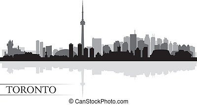 Toronto city skyline silhouette background, vector...
