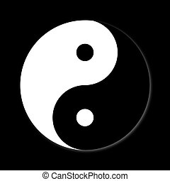 Yin Yang Day Night opposite or contrary forces