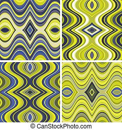 Set of Vector Seamless Abstract Wavy Backgrounds
