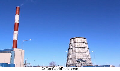 The view inside the nuclear plant - The view inside a...