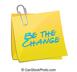 be the change post message illustration design over a white...