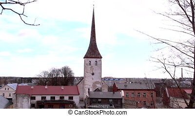 An old church with old buildings - An old medieval church...