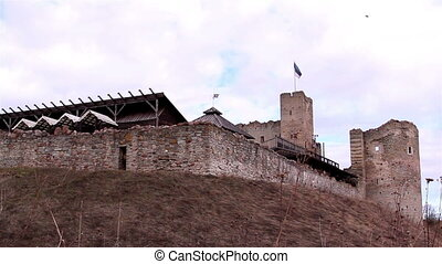 The outside view of the old castle - The outside view of the...