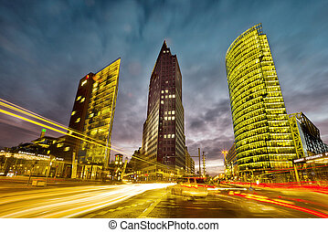 Potsdamer Platz Berlin - intersection in front of the...