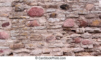 Closer look of the stones from the castles wall - The closer...