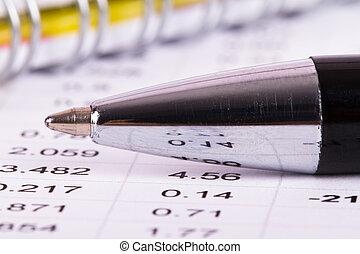 Daten, Stift, finanziell