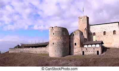 The view of an old ruined castle - The view of an old...