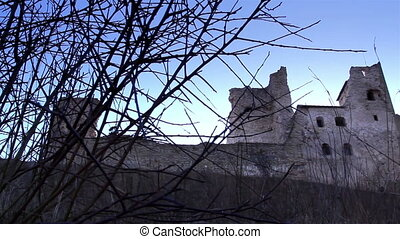 The hill in which the old castle is located - The hill in...