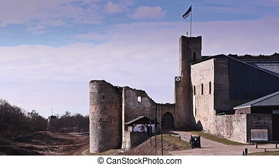 The side view of the old castle - The side view of the old...