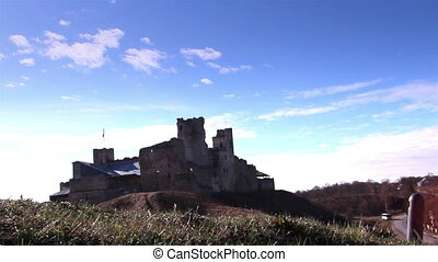 THe old castle is on top of a hill - The old castle is...