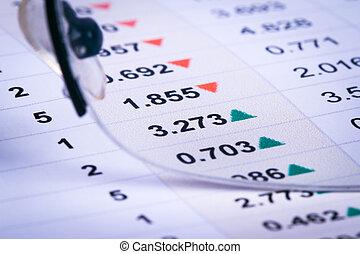 金融, 圖表, 分析, 圖, 酒吧, 數据