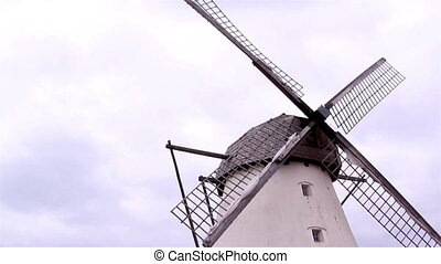 The old grain mill and the wind mill - The old grain mill...