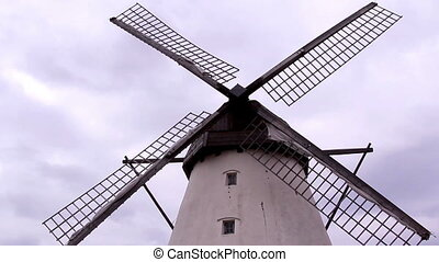 The huge old windmill - The huge old wind mill in the farm