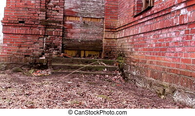 The stone brick wall of the old church - The stone brick...