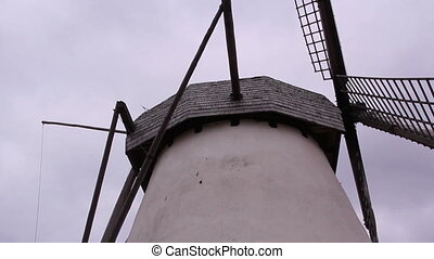 An old windmill - An old white windmill