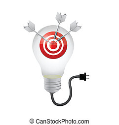 target great ideas concept illustration design over a white...
