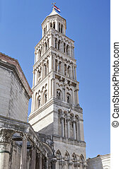 Bell Tower in Split - Bell Tower of Cathedral of Saint...