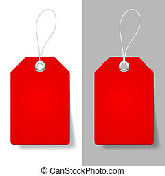Red price tags