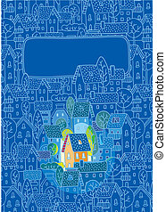 Sweet Home. Greeting card - Greeting card with nice color...