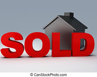 sold house - image of sold house 3d illustration