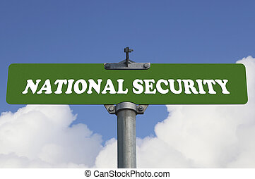 National security road sign