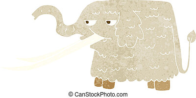 cartoon woolly mammoth