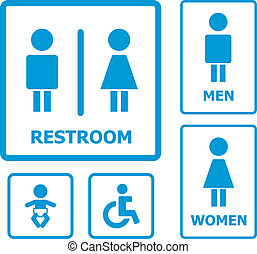 Restroom Sign for your design