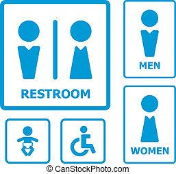 Restroom Sign for your design