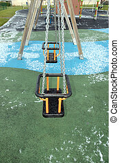 playground swings - playground swing at the seaside resort...