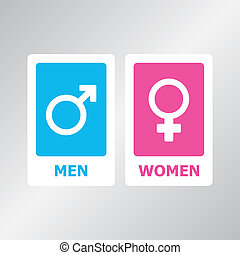 Restroom Sign - Restroom sign set for your design