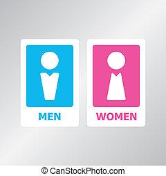 Restroom Sign - Restroom sign set for your design