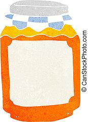 cartoon jar of marmalade