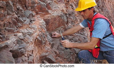 Industrial Mining Rock Chipping Mal - Geologist in safety...