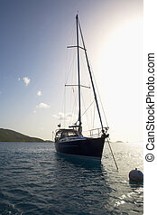 Sailboat moored