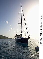 Sailboat moored