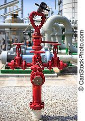 fogo, hidrante, monitor