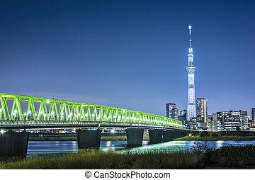 Tokyo, Japan skyline with Tokyo Skytree