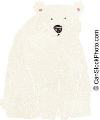 cartoon funny polar bear