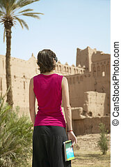Woman Traveling in Morocco