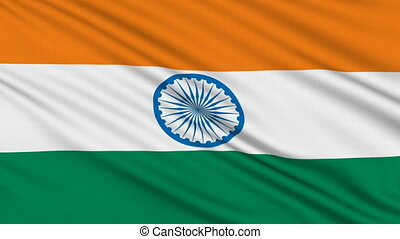 Indian flag, with real structure of a fabric
