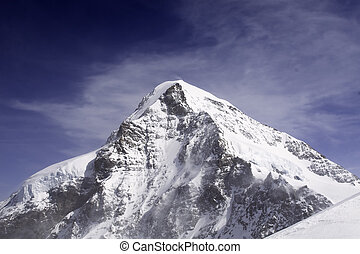 Eiger Mountain in Bern Alps Switzerland