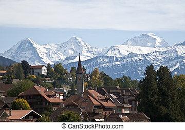 Swiss village - Typical swiss village in the Jungfrau region...