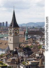 St Peters church in Zurich Switzerland